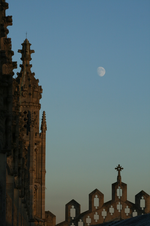 The moon over the chapel